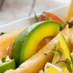 Avocado Melon Salad with Lemon Vinaigrette