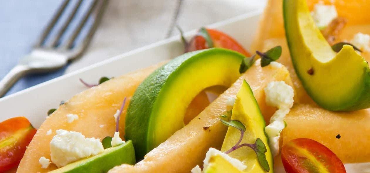 Avocado Melonen Salat