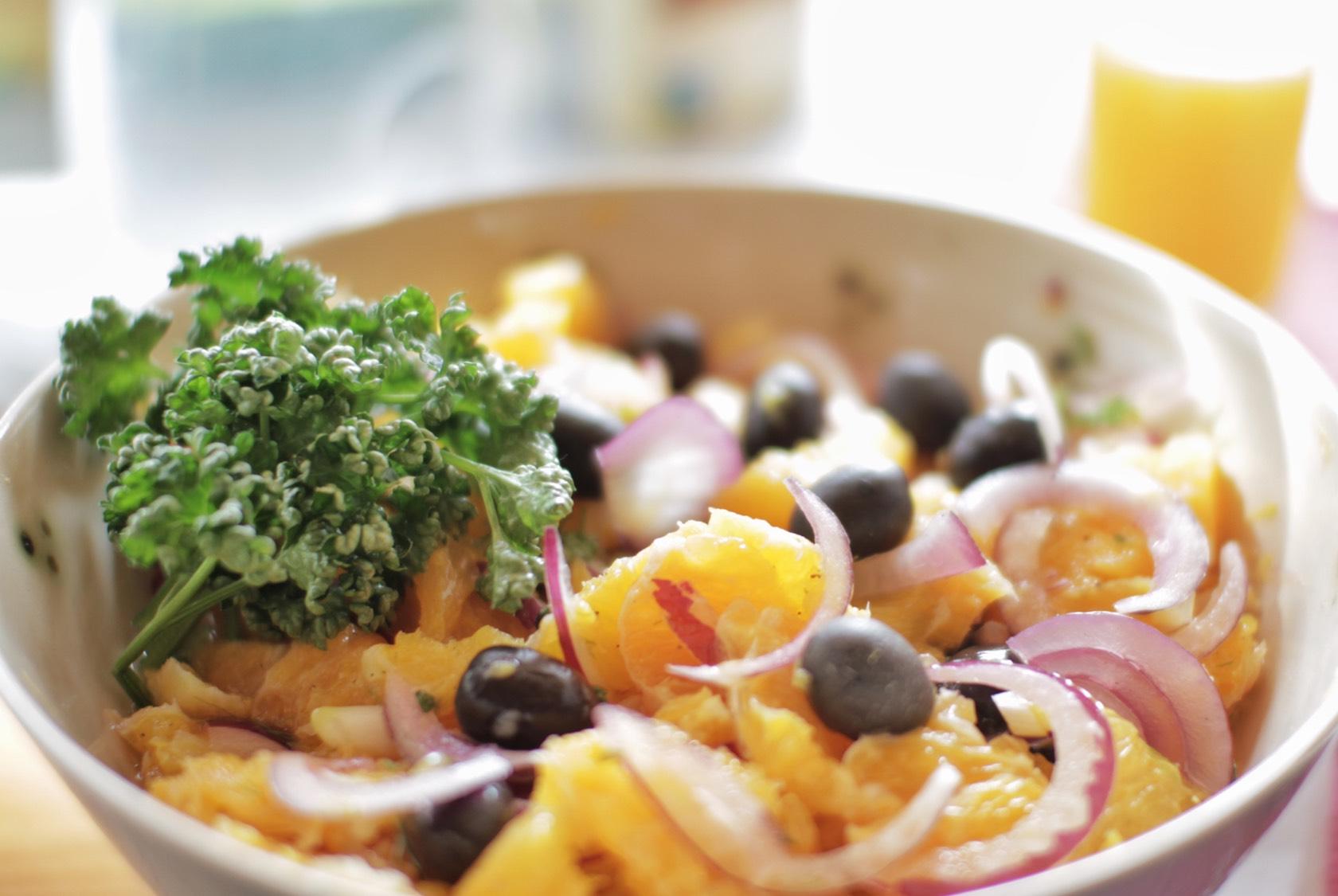 Paleo Orangen Zwiebel Salat