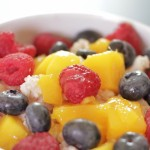 Coconut Rice Pudding with Vanilla and Fruits