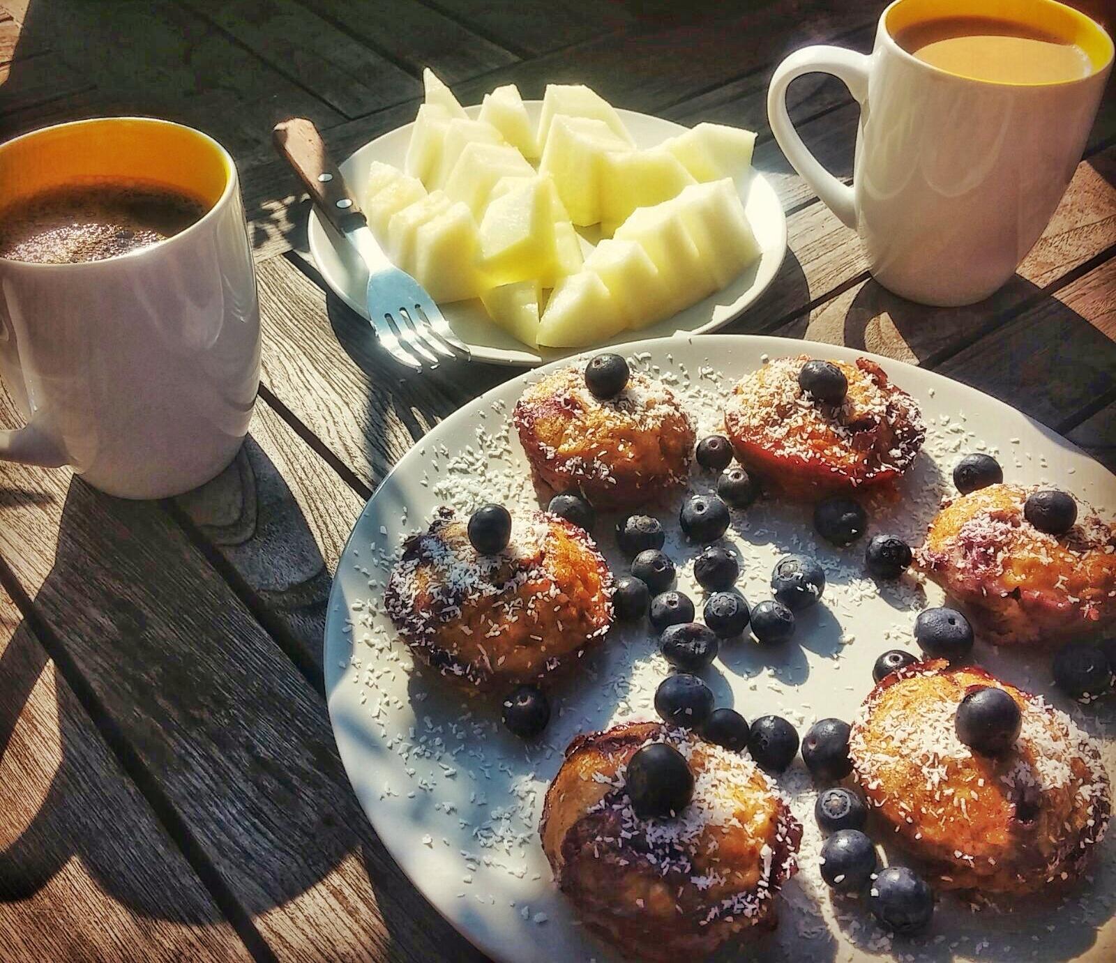 Blaubeer Bananen Muffin