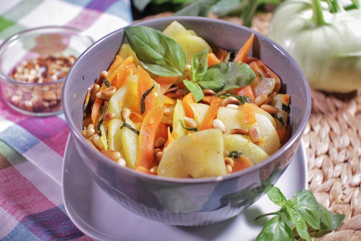 Kohlrabi Möhren Gemüse