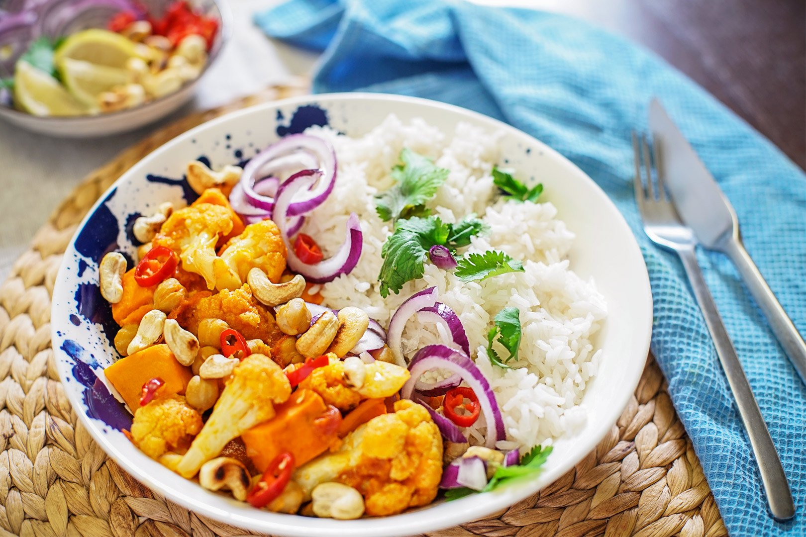 Cauliflower Sweet Potato Curry