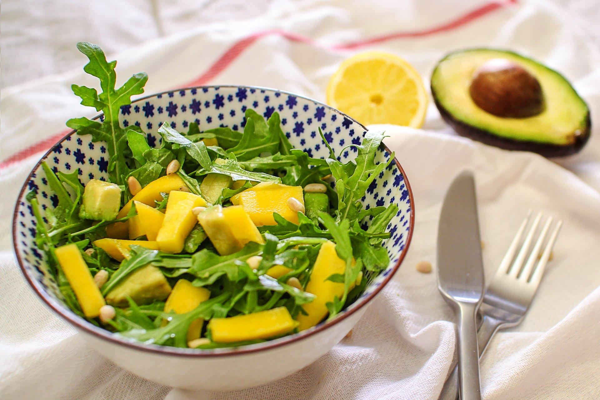Rucola Mango Salat